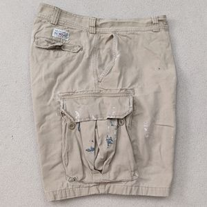 Polo Ralph Lauren Distressed Painted Cargo Shorts